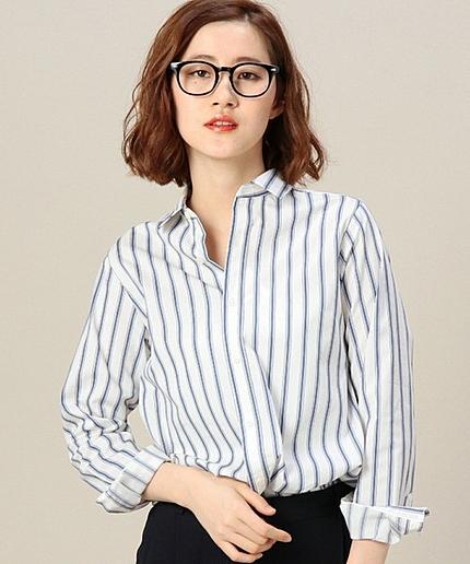 BYBC ストライプレギュラーカラーシャツ
