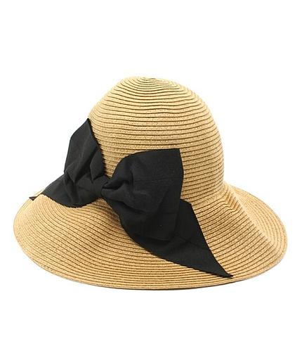 【WEB限定カラー有り】ペーパーブレード×リボン帽子ハット