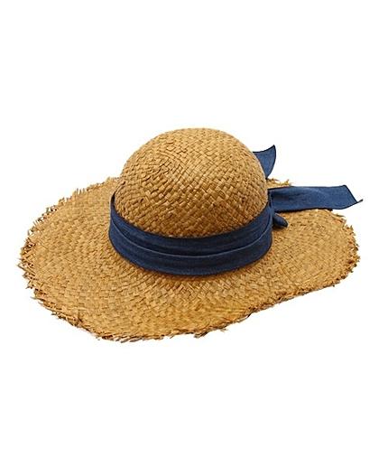 JC デニム リボン ハット / 麦わら帽子