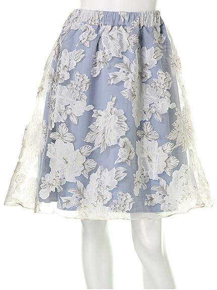シースルーフラワースカート