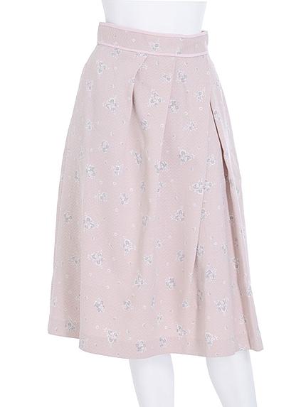 【DUO】 花柄タックミディスカート