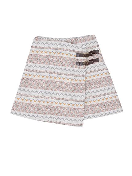 【dazzlin】オルテガ柄巻きスカート