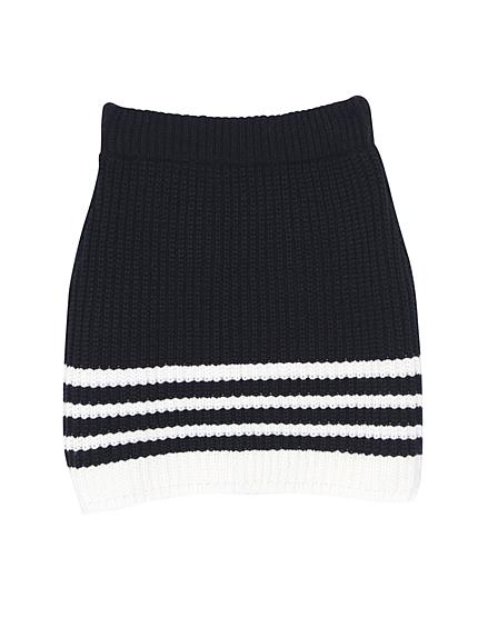 ランダムラインニットスカート