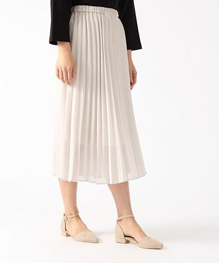 ★ブラックカラー予約受付中★シフォンプリーツスカート