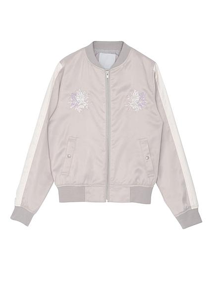 【DUO】 Flower刺繍スカジャンブルゾン