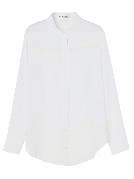 シースルーラインシャツ