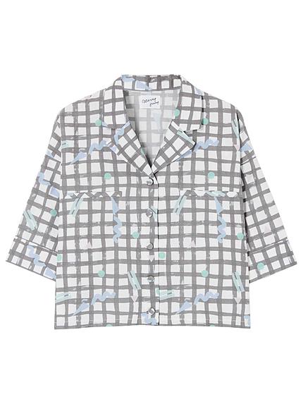 YURERUチェックショートシャツ