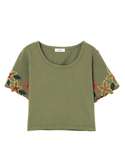 Embroidery Sleeve T-SH