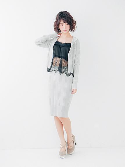ハリヌキニットタイトスカート