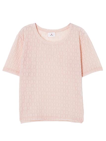 フラワーレースTシャツ