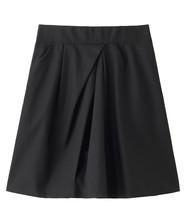 コットンツイルイレギュラータック台形スカート
