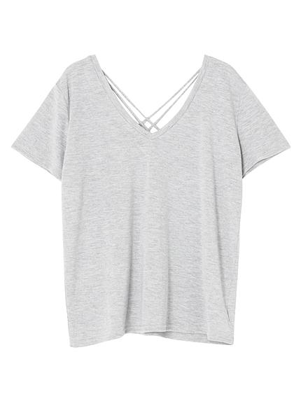 【FEMININE】バッククロスTシャツ