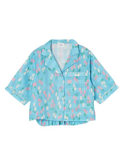 チューリップオープンカラーシャツ