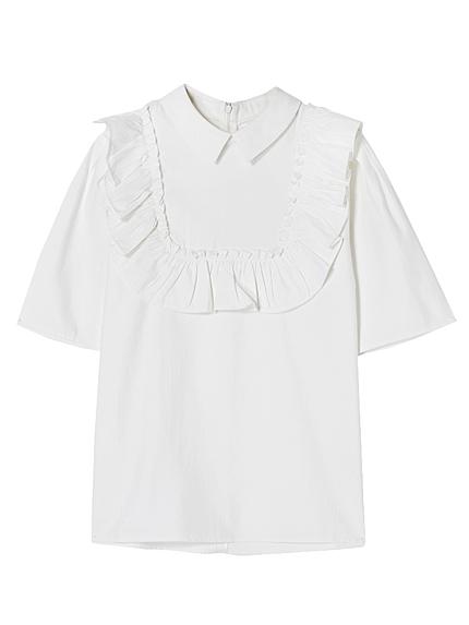 フロントフリルシャツ