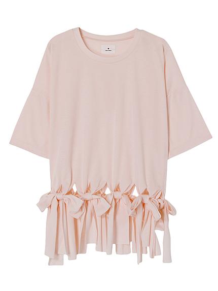 フリンジリボンTシャツ