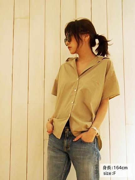 【Classy】ボリュームシルエットハーフスリーブシャツ