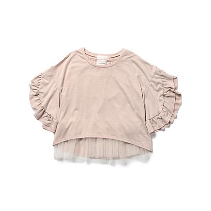 CAROLINA GLASER / 袖フリル ツインTシャツ