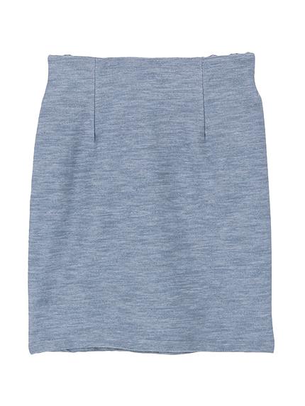 カットデニムタイトスカート
