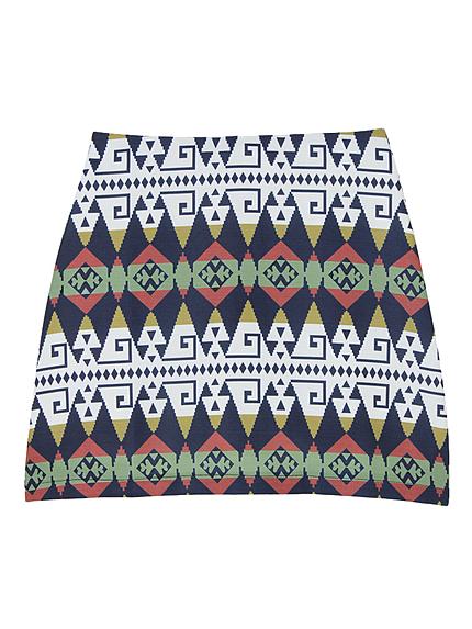 ネイティブパターン台形スカート