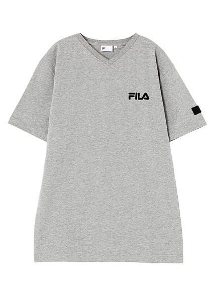 EMODA×FILA VネックTシャツ