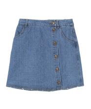 【sc】デザインボタンデニム台形スカート