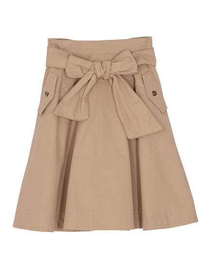 【se】リボン付きデザイン切替スカート