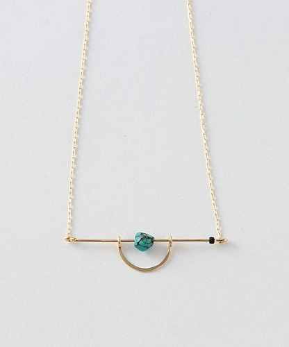 <CINQ>BAR TURQUOISE NECKLACE/ネックレス