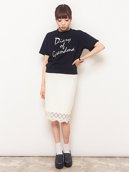 elianegigi【L】レースタイトスカート