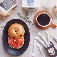 まるっとかわいい!本場のむちむち食感ベーグルで、幸せ朝ご飯♡