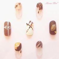 チョコを渡すネイルもこだわって。チョコネイルで迎える甘いバレンタイン