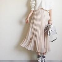 春にぴったり♡ふわっと軽やかなおすすめプリーツスカートコーデ
