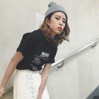 ちょっぴりデカめを折って着たいの♡Tシャツは「ロールアップ袖」が今っぽい!