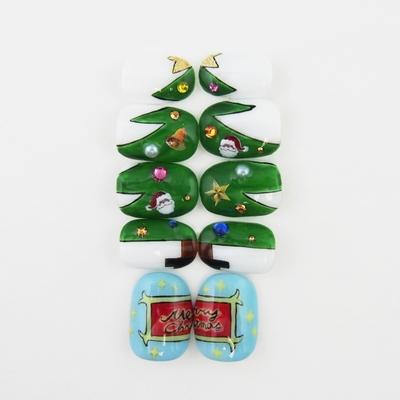 隠れクリスマスツリー・・・ネイル