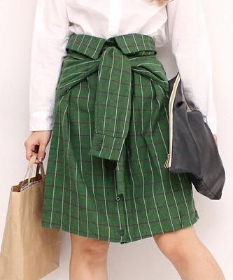 チェック腰巻きAラインスカート/ANAP(アナップ)