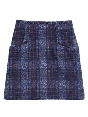 チェック台形スカート