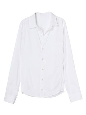 Vカットベーシックシャツ