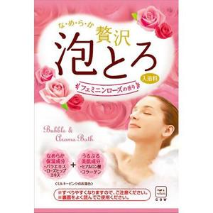 お湯物語 贅沢泡とろ入浴料 フェミニンローズの香り