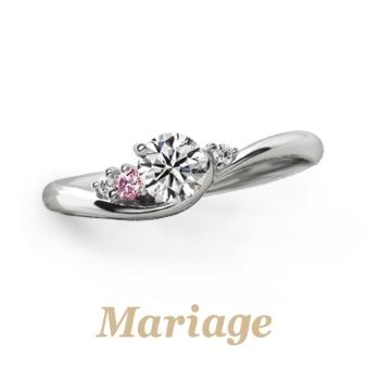 婚約指輪 シェリール【Cherir:愛おしい】0.3ct ピンクダイヤアレンジ