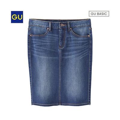 デニムルックタイトスカート