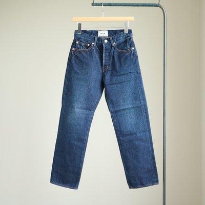 Denim Pants - tight straight / 12.5oz used wash #navy