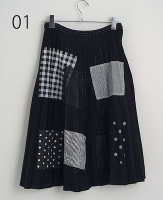 keisuke kanda(ケイスケカンダ)つぎはぎのスカート [one and only]