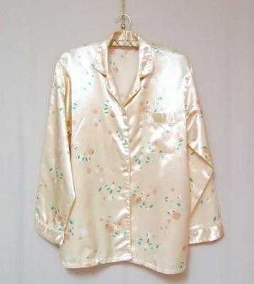 printed satin pajama shirt