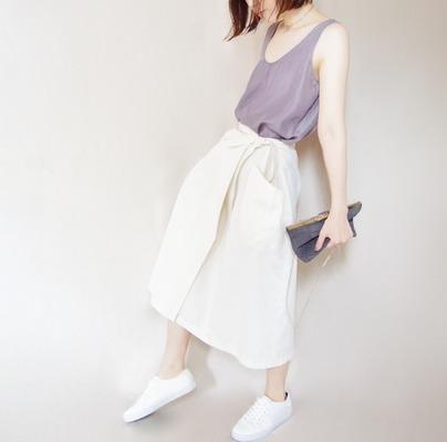 ラップスカートオフホワイト