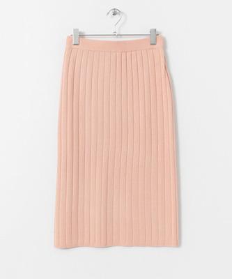 (SENSE OF PLACE)TCF ワイドリブニットスカート
