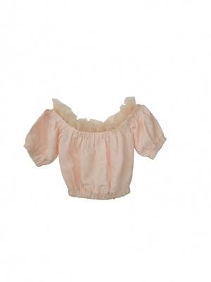 HONEY MI HONEY  NEW tulle offshoulder blouse