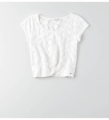 AEOアイレットツイストTシャツ