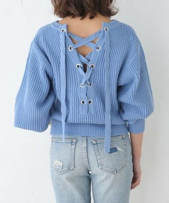 BACK LACE UP BALLOON MG TOPS2