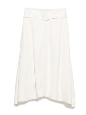 太ベルト付きスカート
