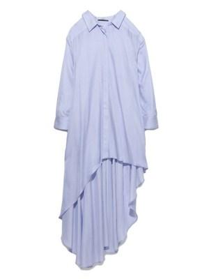 Long Flare Dress Shirt