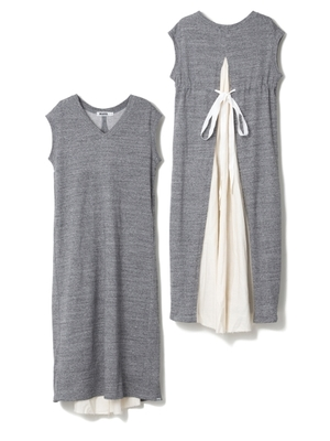 SWEAT V-NECK DRESS